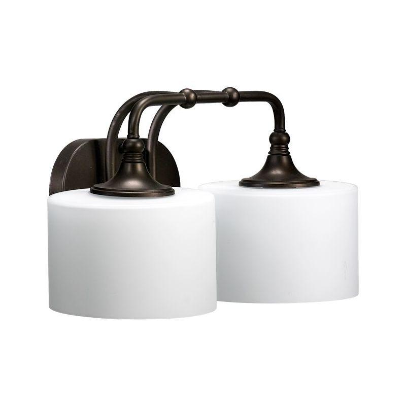 Vanity Light Upside Down : Quorum International 5090-2-86 Oiled Bronze 2 Light Down Lighting Vanity Fixture from the ...