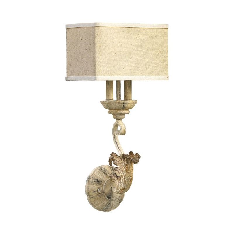 Quorum International 5237-2 Florence 2 Light Wall Sconce Persian White
