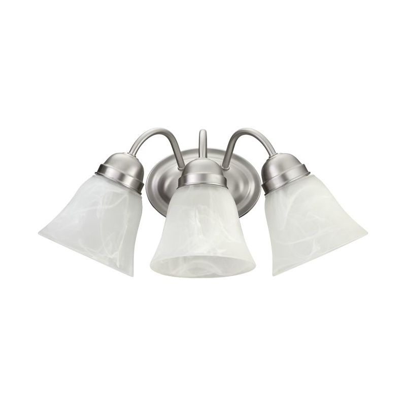 Quorum International 5403-3 3 Light Bathroom Vanity Light with Frosted