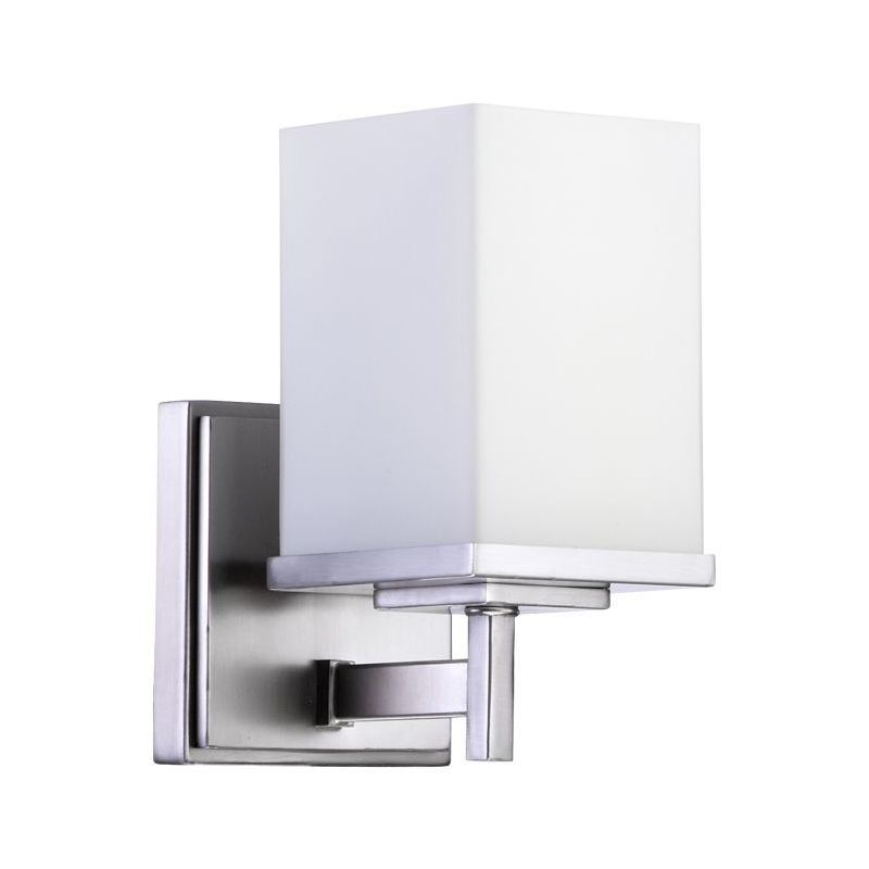Quorum 5484-1-65 Satin Nickel Contemporary Delta Wall Sconce