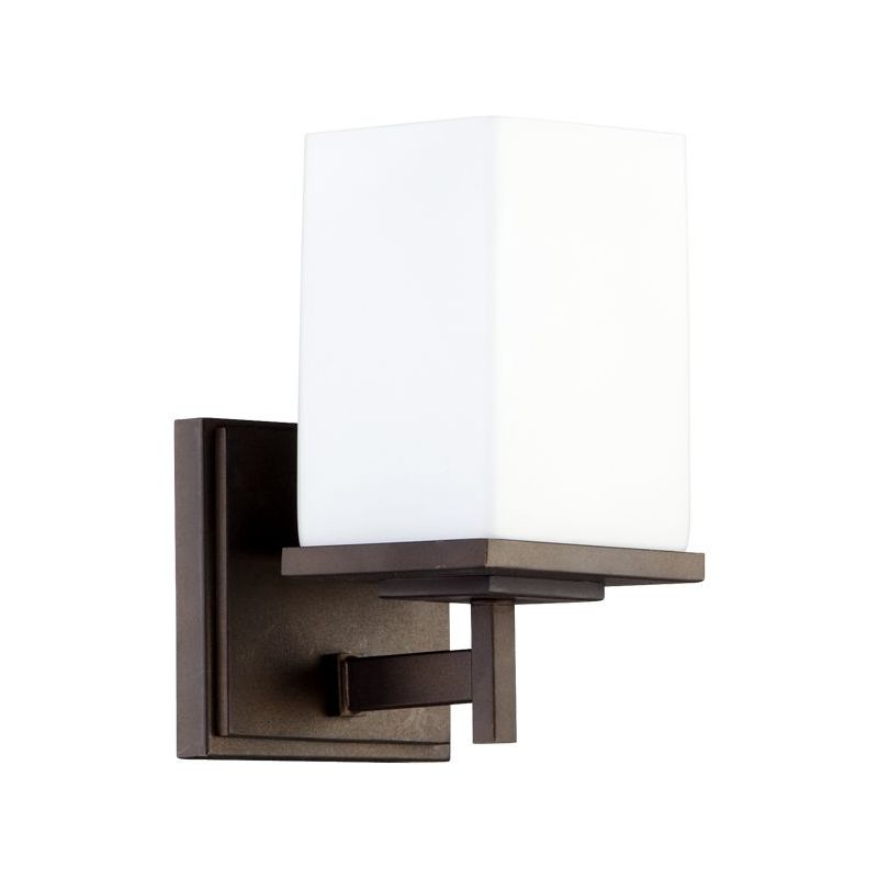 Quorum 5484-1-86 Oiled Bronze Contemporary Delta Wall Sconce