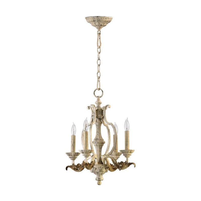 Quorum International 6037-4 Florence 4 Light 1 Tier Chandelier Persian