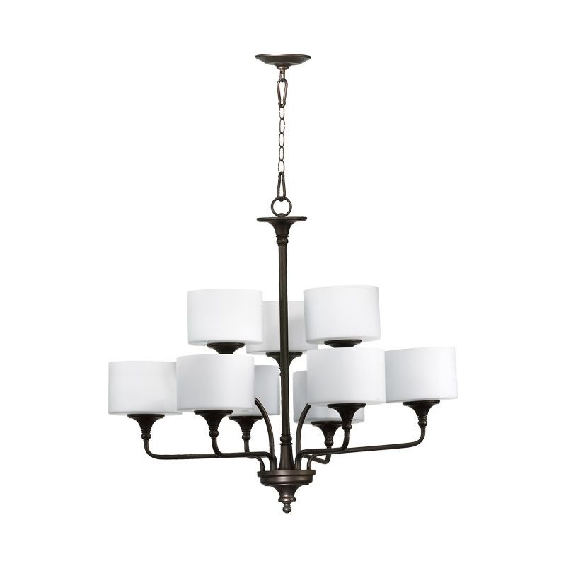 Quorum International 6090-9 Rockwood 9 Light 2 Tier Chandelier Oiled