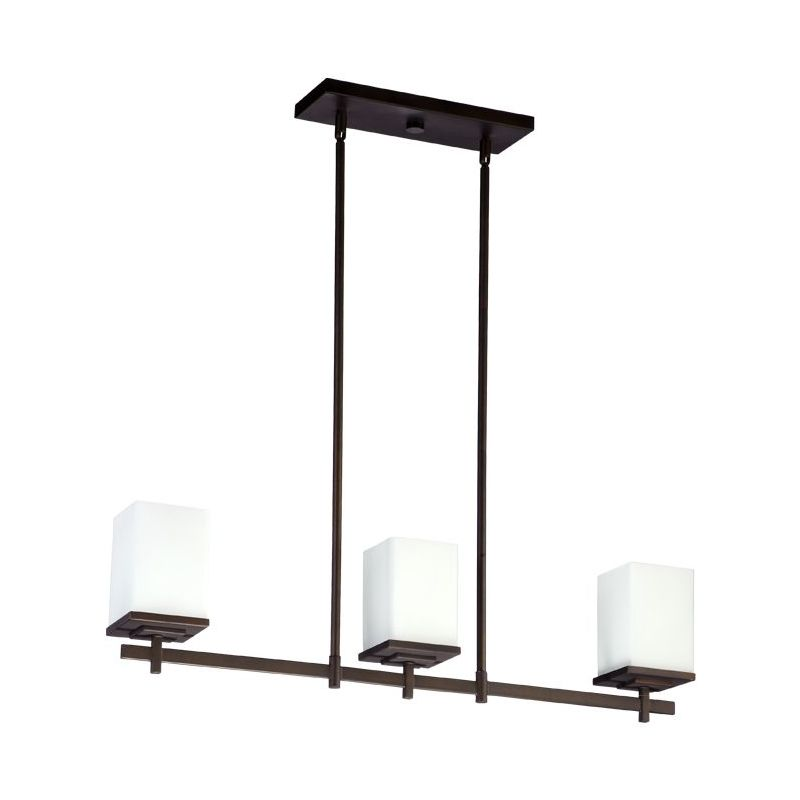 Quorum 6584-3-86 Oiled Bronze Contemporary Delta Chandelier