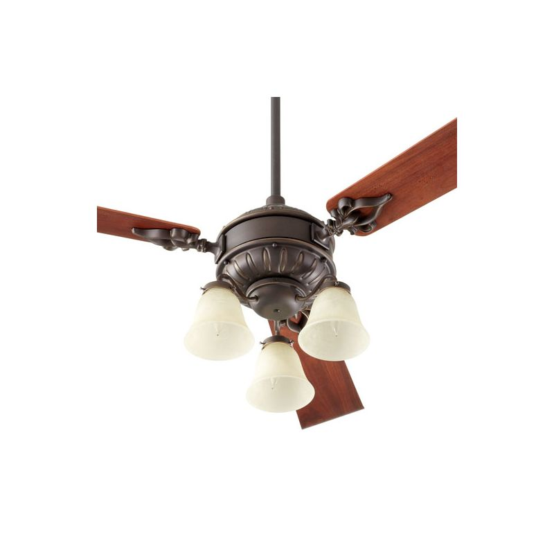 Quorum International 2360 Brewster 3 Bulb Fan Light Kit Oiled Bronze