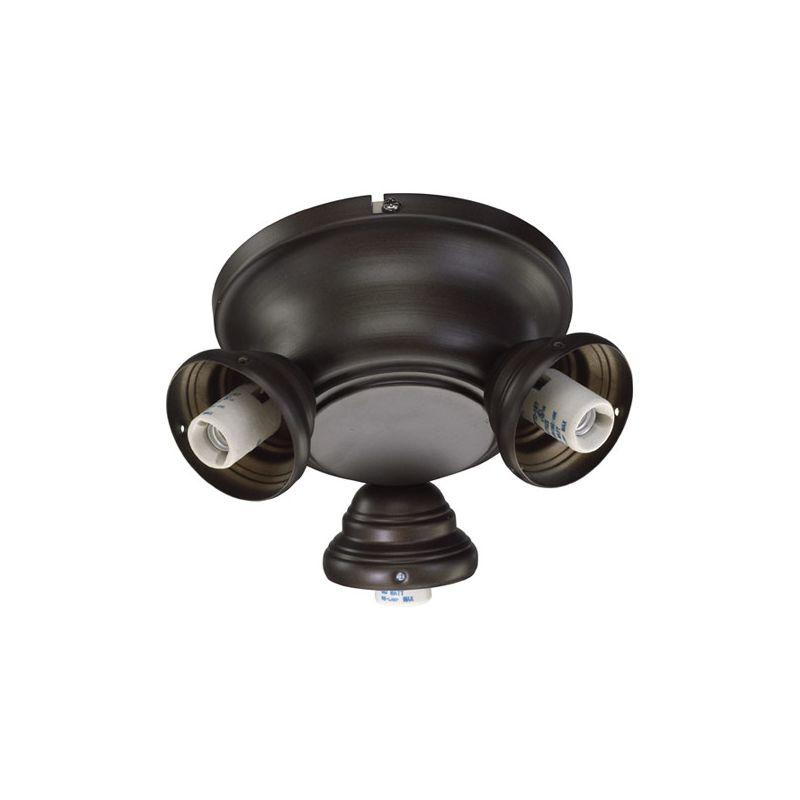 Quorum International 2383-0 Salon 3 Bulb Fan Light Kit Oiled Bronze
