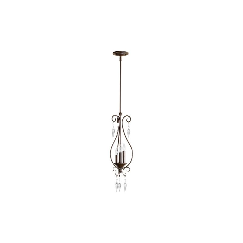 Quorum International 3001-3 Vesta 3 Light Mini Pendant Oiled Bronze