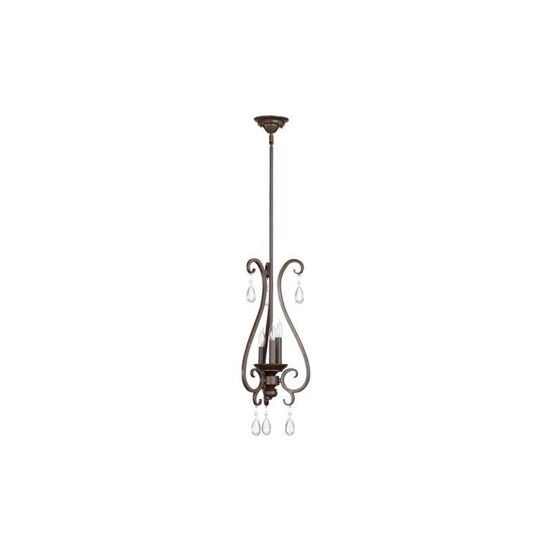 Quorum International 3013-3 Anders 3 Light Full Sized Pendant Oiled