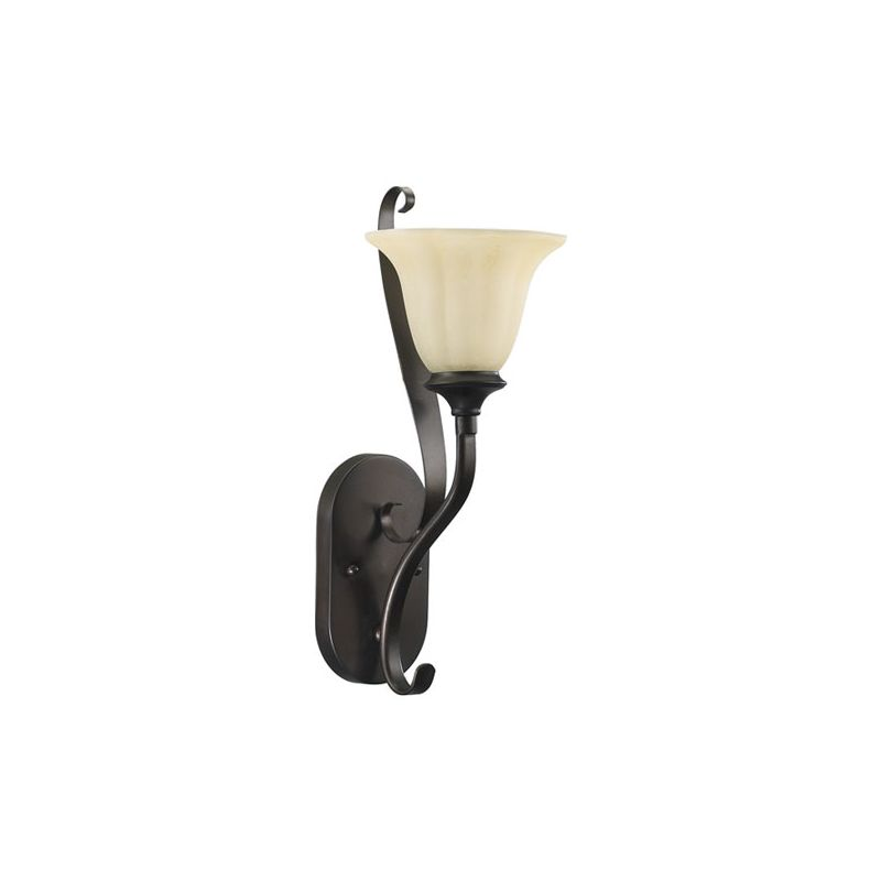 Quorum International 5394-1 Randolph 1 Light Bathroom Sconce Oiled