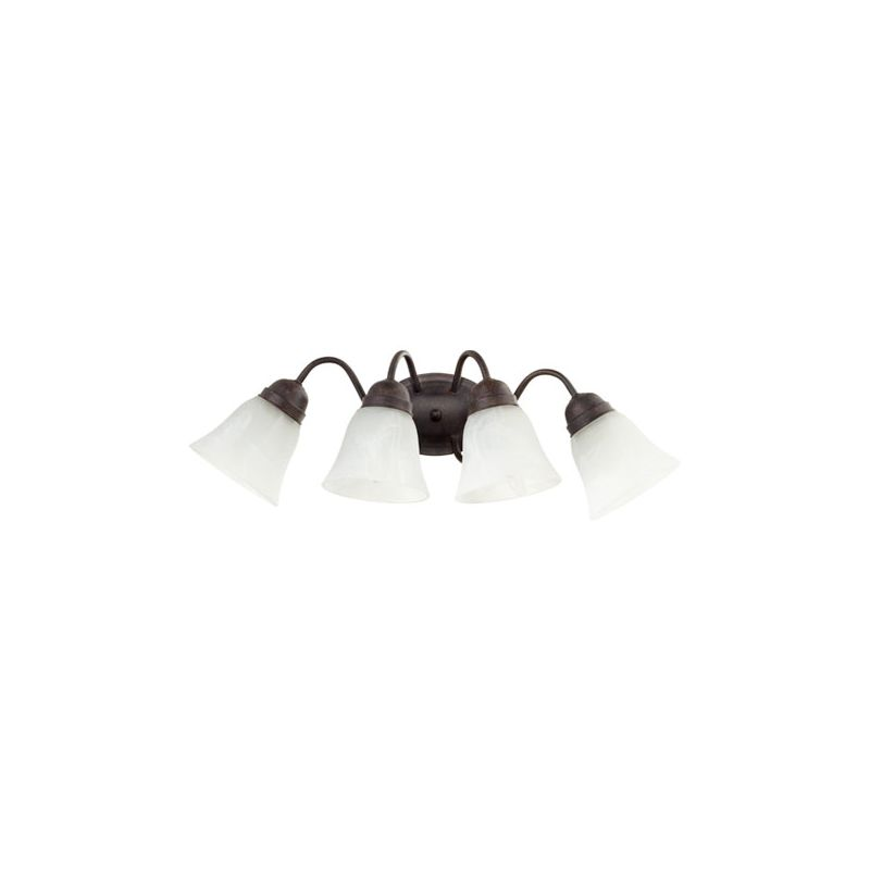 Quorum International 5403-4 4 Light Bathroom Vanity Light with Frosted