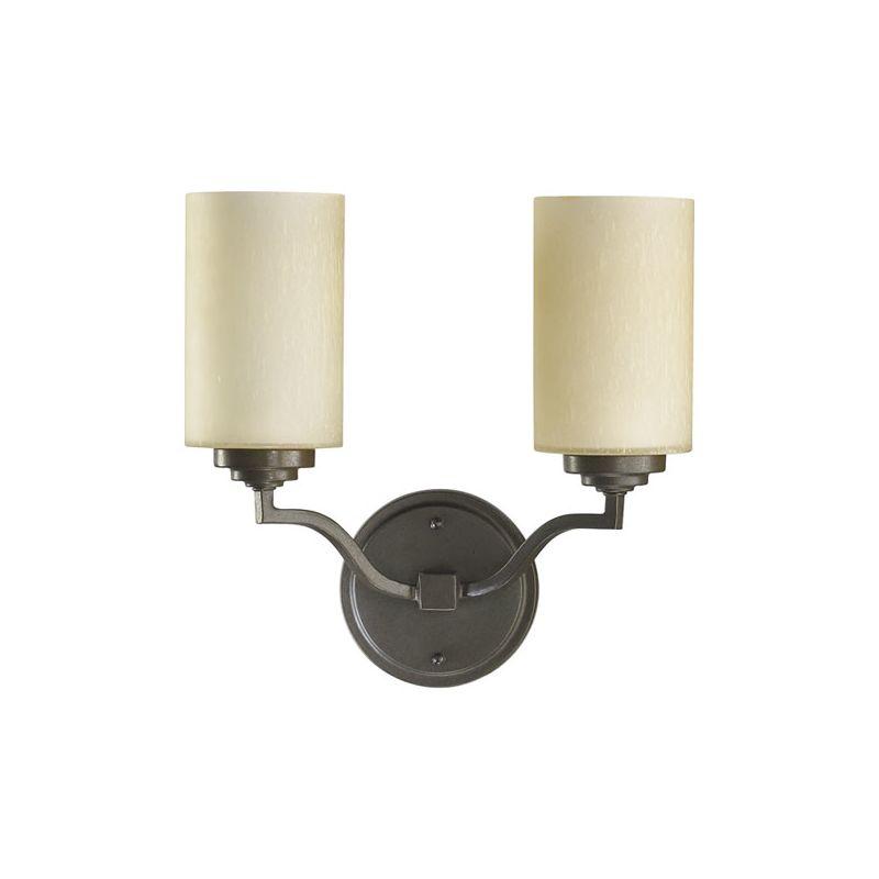 Quorum International 5496-2 Atwood 2 Light Bathroom Vanity Light Oiled
