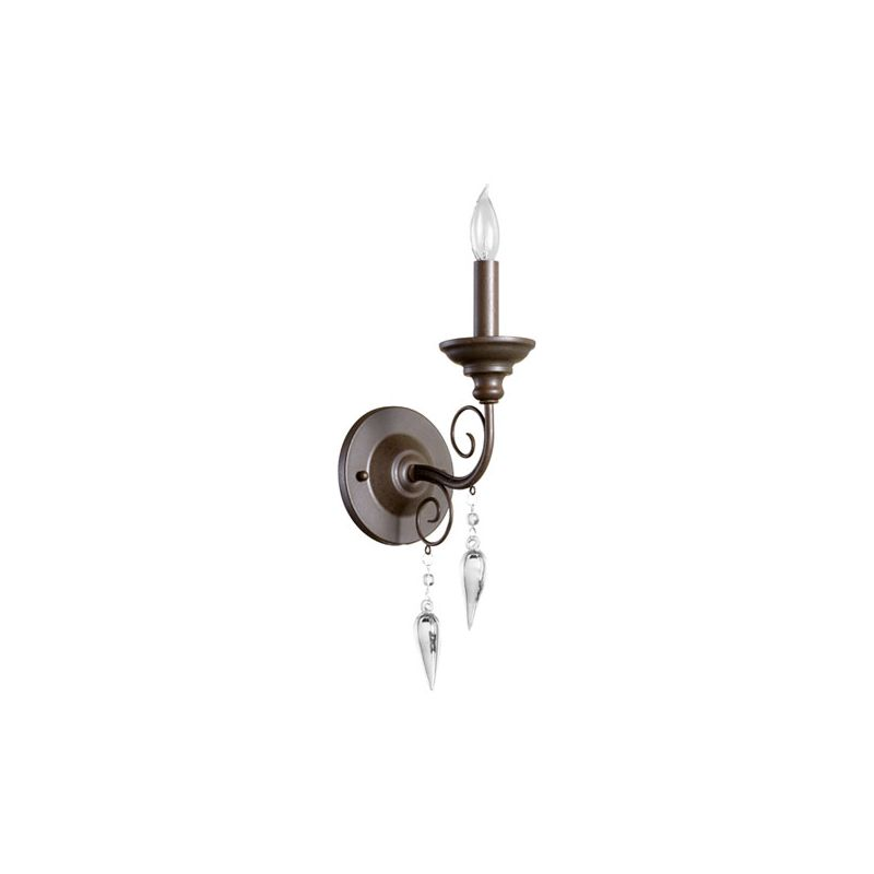 Quorum International 5501-1 Vista 1 Light Bathroom Sconce Oiled Bronze