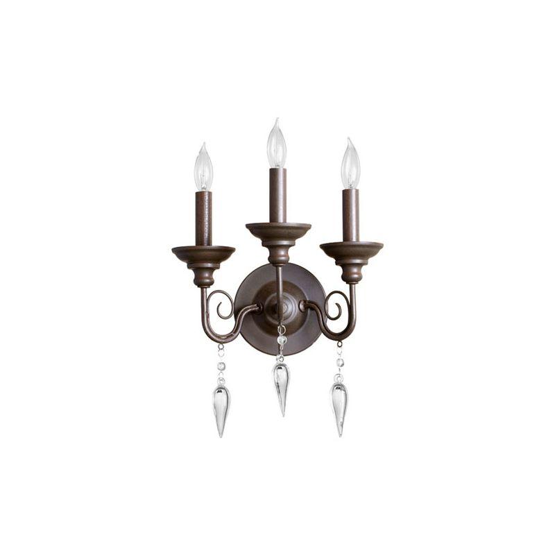 Quorum International 5501-3 Vista 3 Light Bathroom Vanity Light Oiled