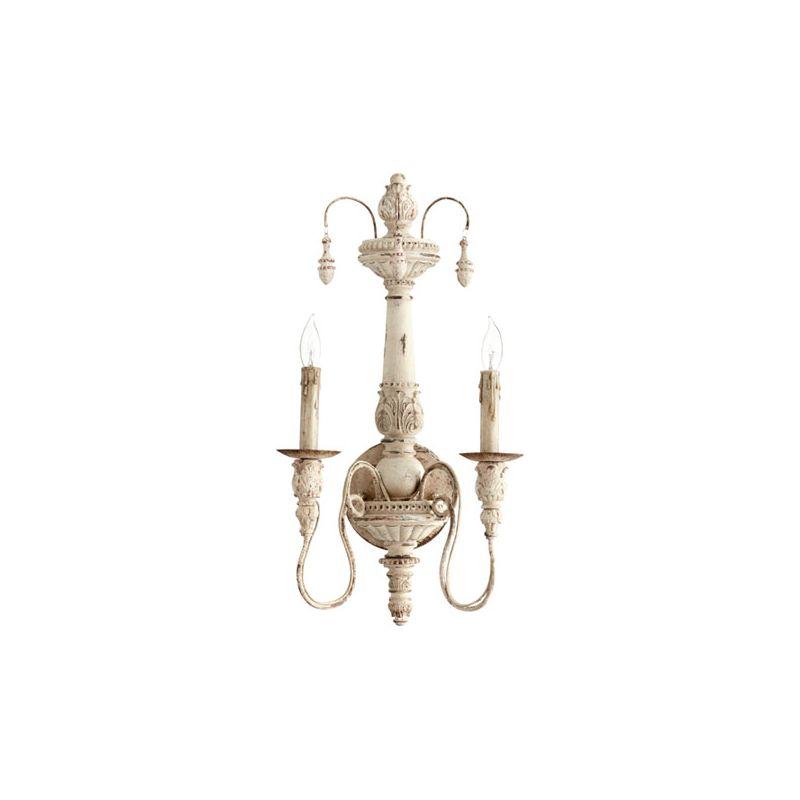 Quorum International 5506-2 Salento 2 Light Wall Sconce Persian White