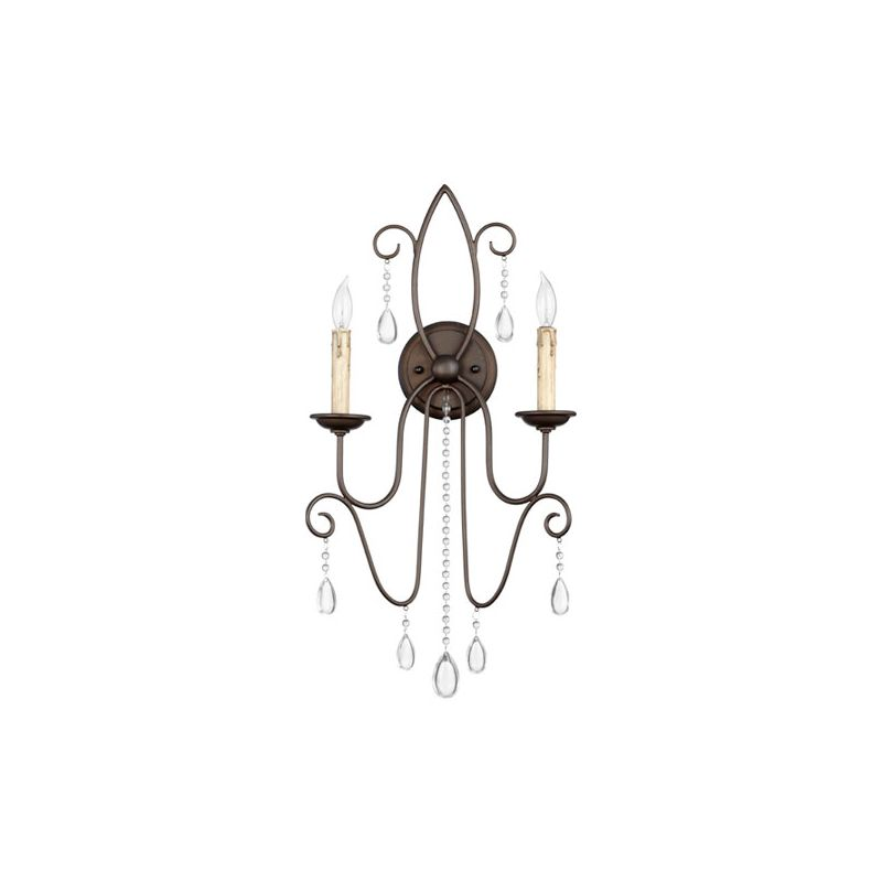 Quorum International 5516-2 Cilia 2 Light Wall Sconce Oiled Bronze