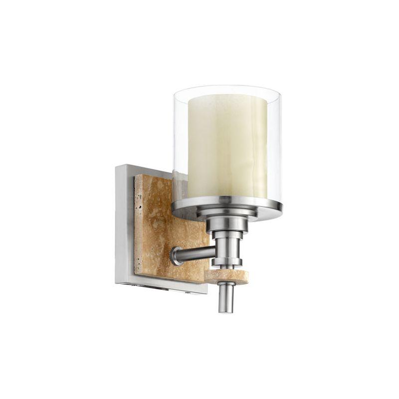 Quorum International 5564-1 Concord 1 Light Bathroom Sconce Satin