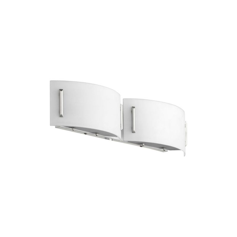 Quorum International 5586-2 2 Light Bathroom Vanity Light with Frosted
