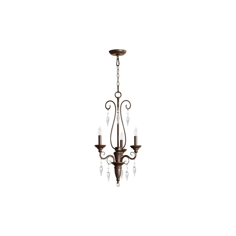 Quorum International 6001-3 Vesta 3 Light 1 Tier Chandelier Oiled