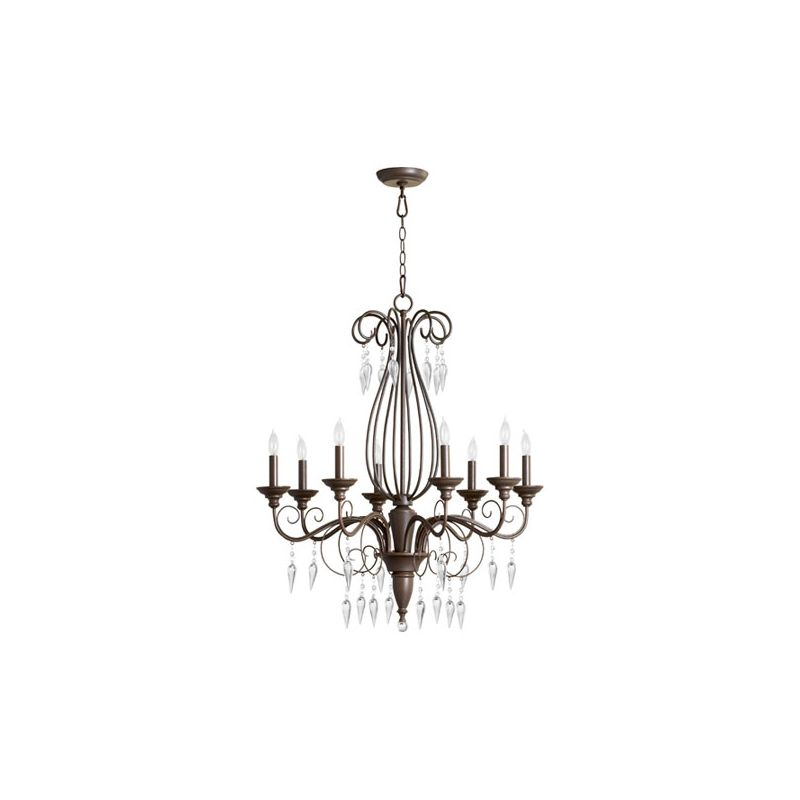 Quorum International 6001-8 Vesta 8 Light 1 Tier Chandelier Oiled