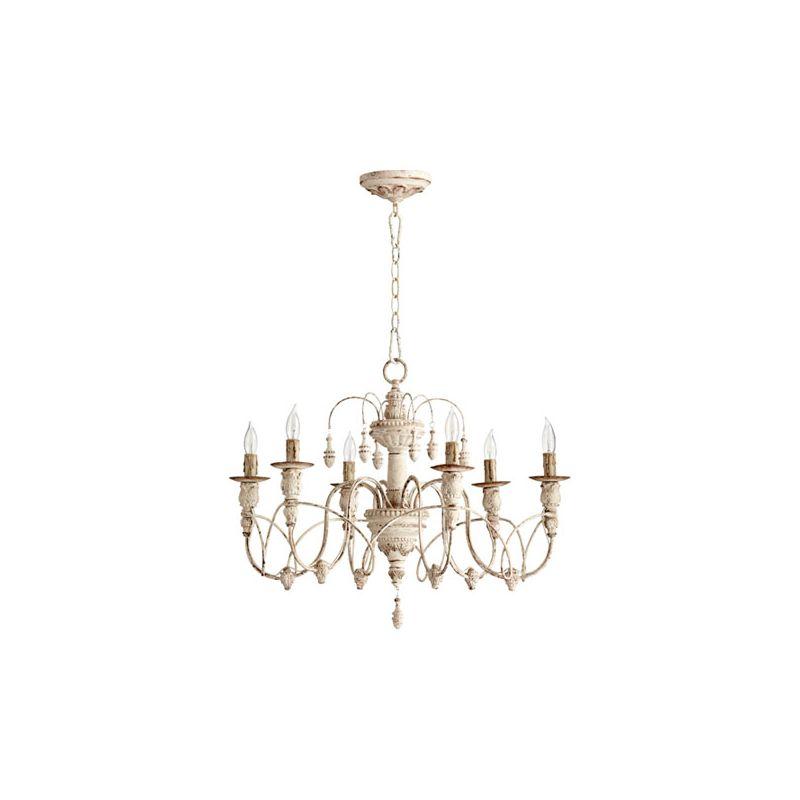 Quorum International 6016-6 Salento 6 Light 1 Tier Chandelier Persian