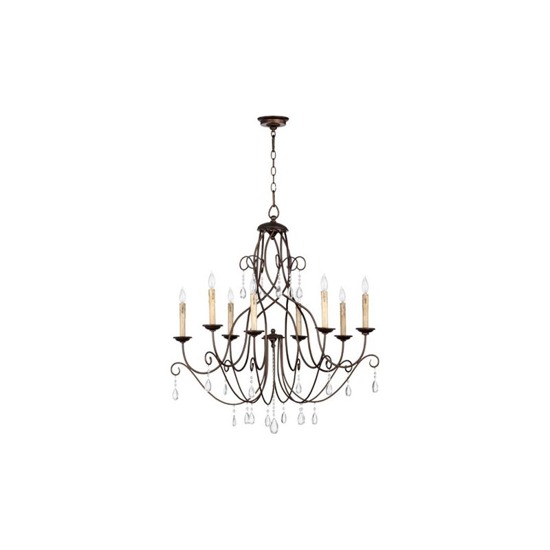 Quorum International 6116-8 Cilia 8 Light 1 Tier Chandelier Oiled