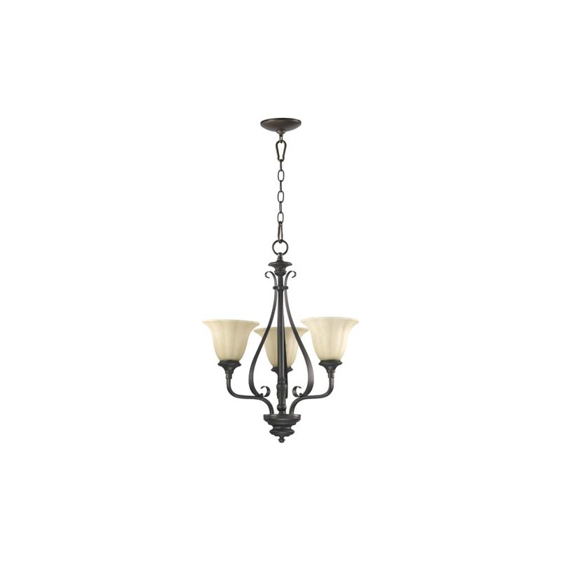 Quorum International 6194-3 Randolph 3 Light 1 Tier Chandelier Oiled Sale $173.00 ITEM: bci2008060 ID#:6194-3-86 :