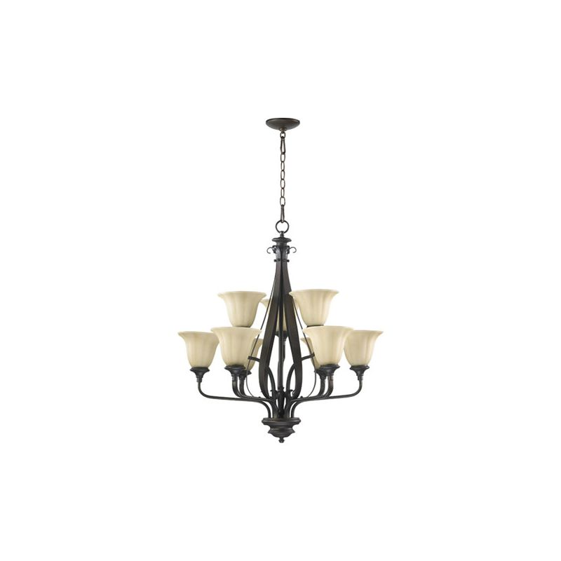 Quorum International 6194-9 Randolph 9 Light 2 Tier Chandelier Oiled Sale $392.00 ITEM: bci2008064 ID#:6194-9-86 :