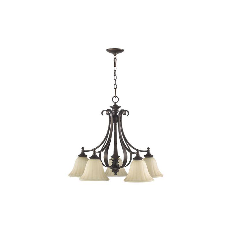 Quorum International 6394-5 Randolph 5 Light 1 Tier Down Lighting