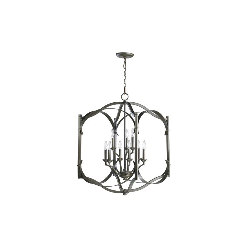 "Quorum International 6796-9 Atwood 9 Light 22"" Foyer Pendant Oiled"