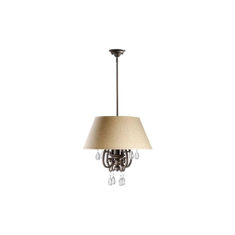 Quorum International 6813-4 Anders 4 Light Full Sized Pendant Oiled