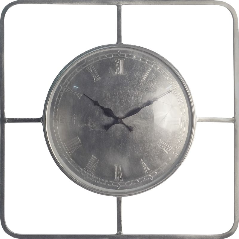 Ren Wil CL202 Telegraph Analog Wall Clock with Roman Numerals Nickel
