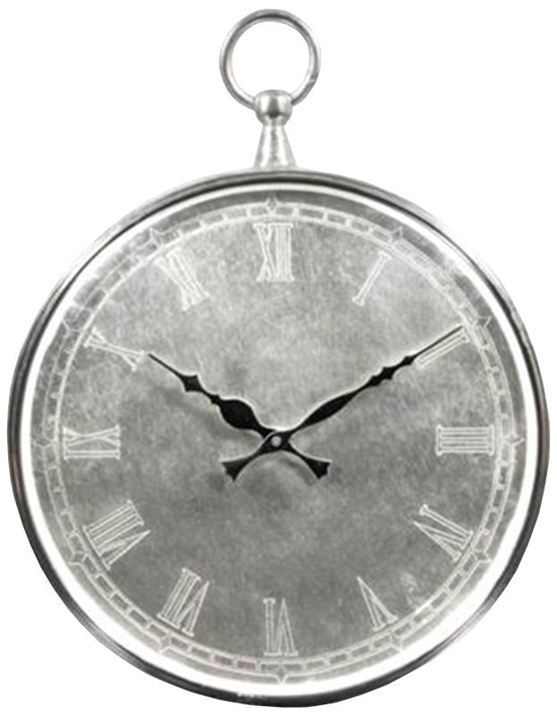 Ren Wil CL203 Bryony Analog Wall Clock with Roman Numerals Nickel Home