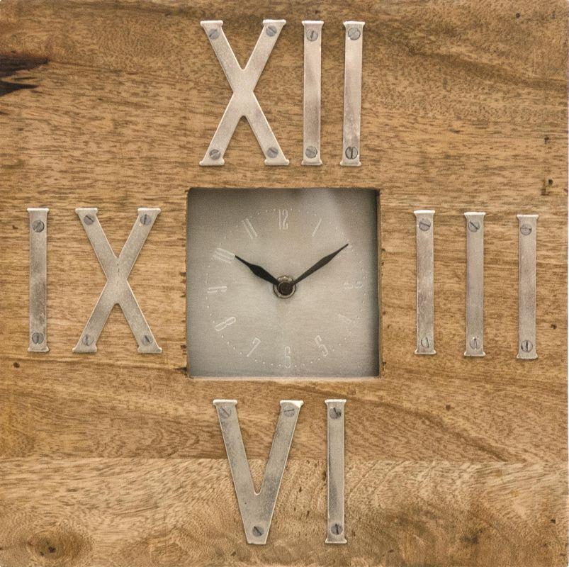 Ren Wil CL204 Wilber Analog Wooden Desk Clock with Roman Numerals