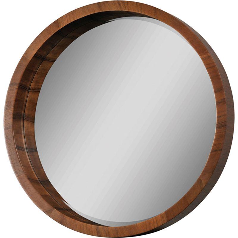 """Ren Wil MT1006 33"""" High by 33"""" Wide Lucerne Mirror Walnut Veneer Home"""