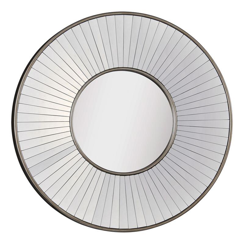 "Ren Wil MT1113 42"" High by 42"" Wide Addison Mirror Antique Silver Home"