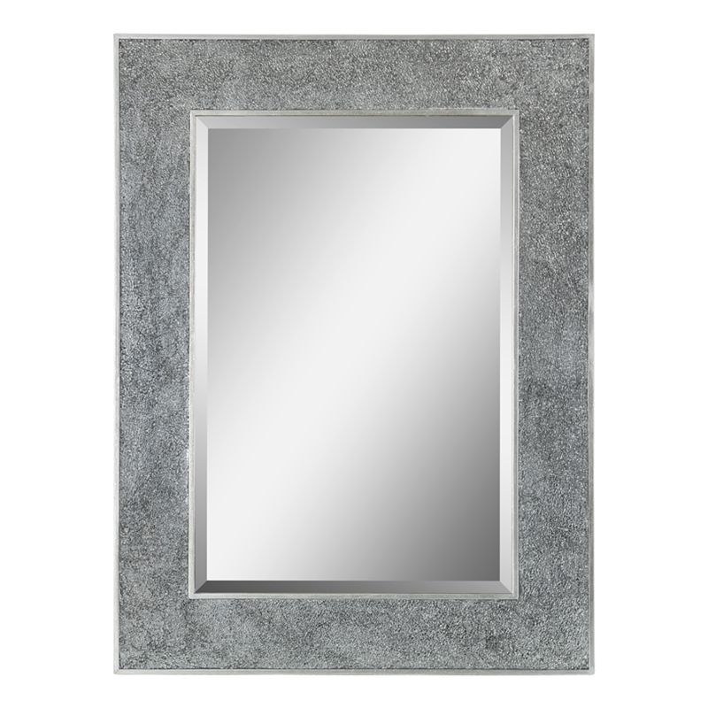 "Ren Wil MT1129 40"" High by 30"" Wide Delaney Mirror Silver Home Decor"