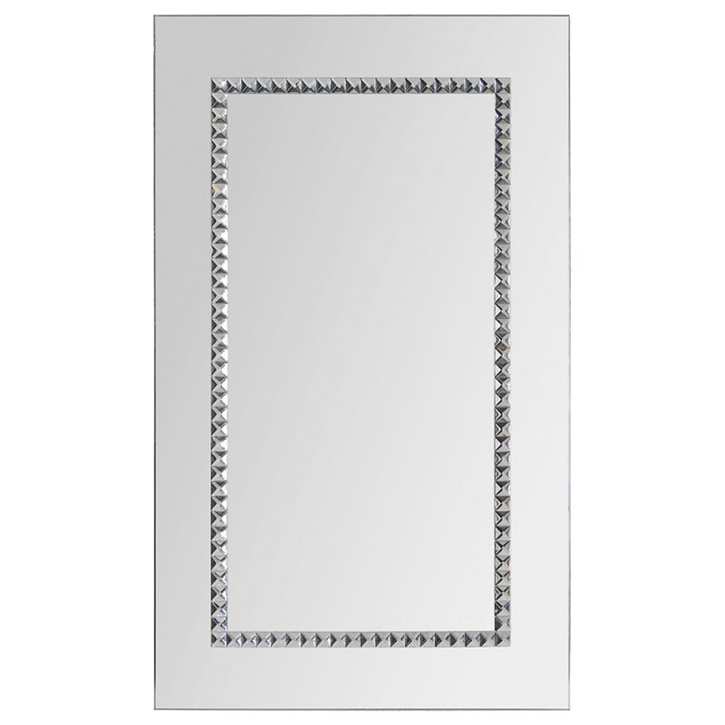 "Ren Wil MT1216 40"" High by 24"" Wide Aventurine Mirror Chrome Home"