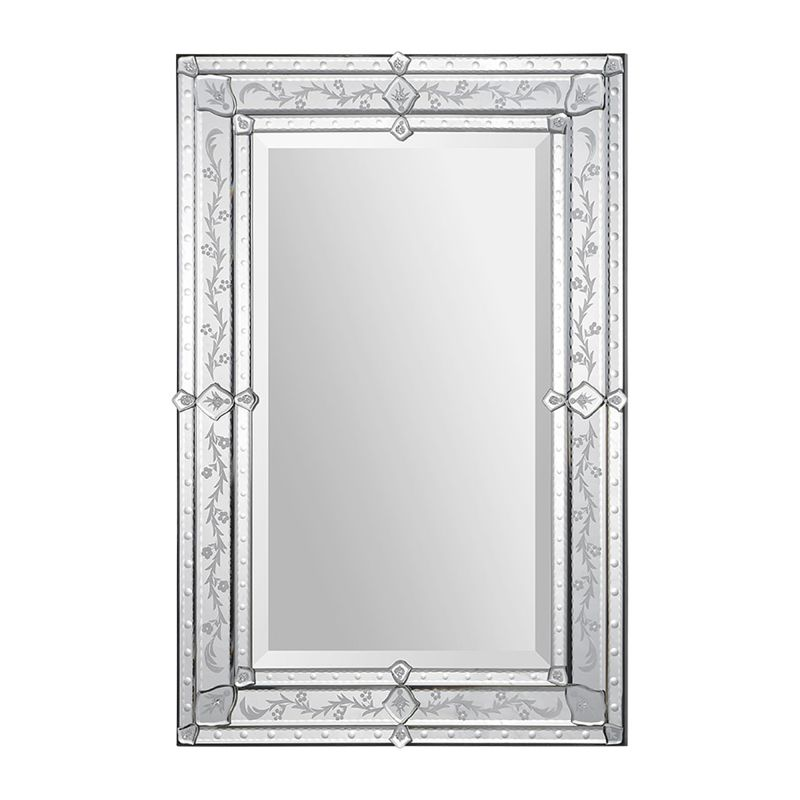 "Ren Wil MT1301 36"" High by 24"" Wide Vincenzo Mirror Mirror Glass Home"