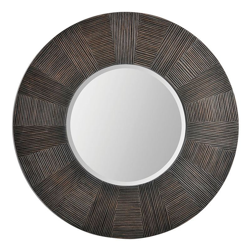 Ren Wil MT1309 30&quote High by 30&quote Wide Delevan Mirror Warm Brown Home