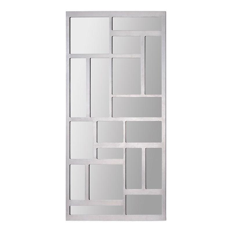 """Ren Wil MT1315 60"""" High by 30"""" Wide Valli Mirror Silver Leaf Home"""