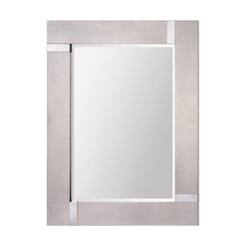 "Ren Wil MT1318 40"" High by 30"" Wide Capiz Mirror Silver Leaf / Chrome"