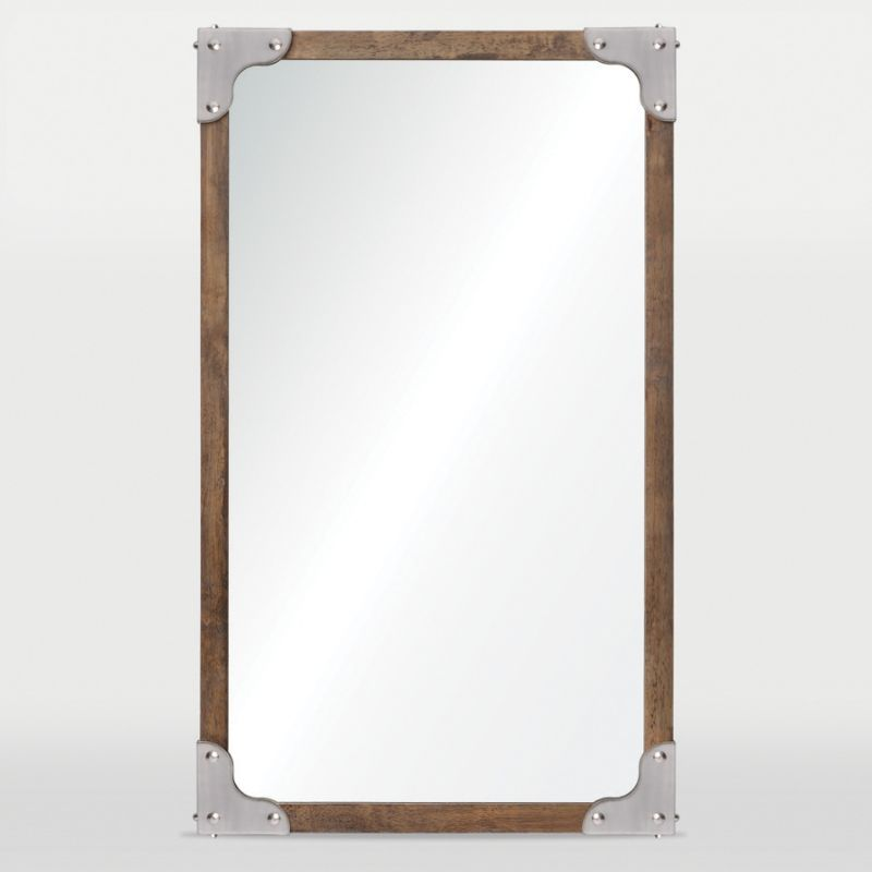 Ren Wil MT1438 24&quote High by 40&quote Wide Advocate Mirror Satin Nickel Home