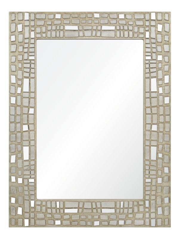 Ren Wil MT1465 30&quote High by 40&quote Wide Duchamp Mirror Silver Leaf Home