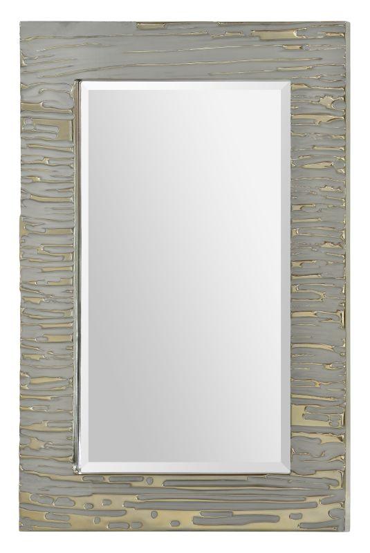 "Ren Wil MT1470 24"" High by 36"" Wide Foxtrot mirror Silver Home Decor"