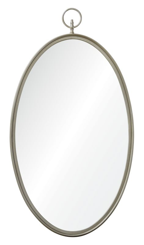 "Ren Wil MT1506 22"" High by 40"" Wide Port Jackson Mirror Silver Home"