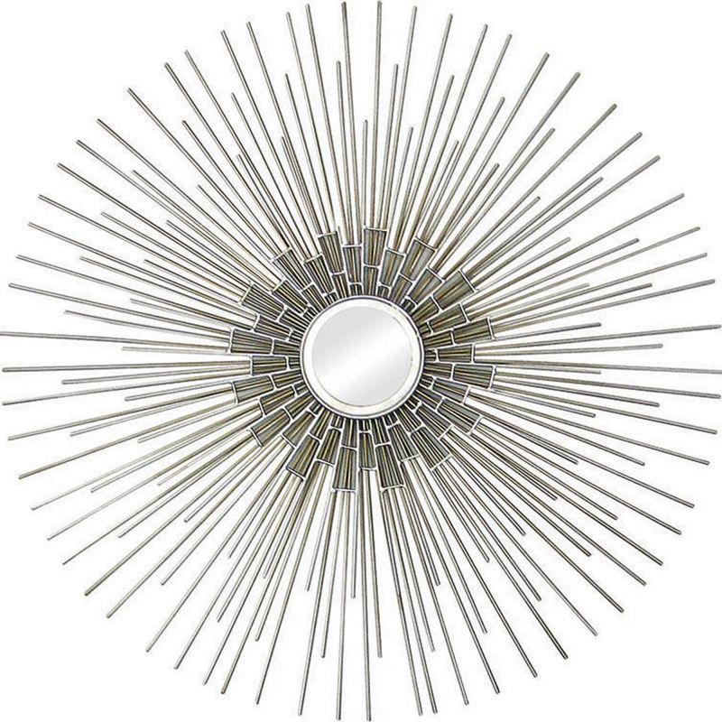 "Ren Wil MT907 35"" High by 35"" Wide Arizona Mirror Silver Home Decor"