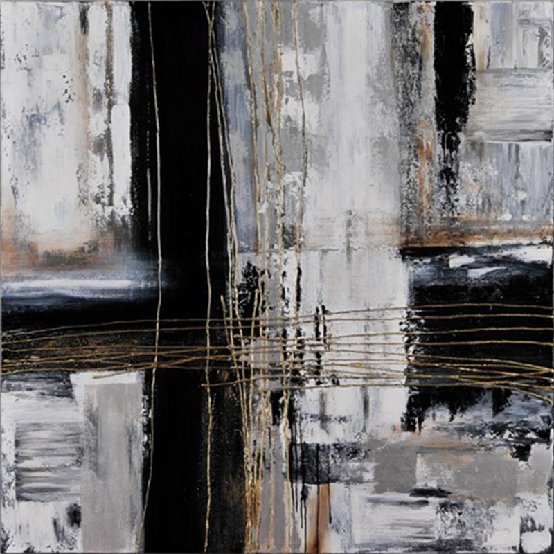 "Ren Wil OL216 Origins 48"" Wide by 48"" High Canvas Wall D�©cor Black /"