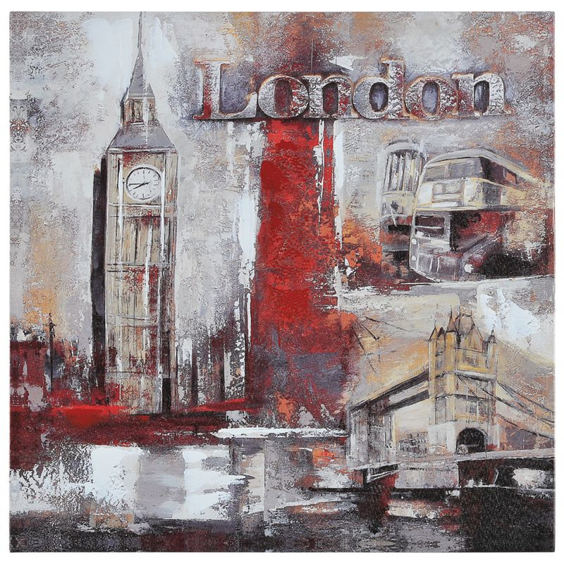 Ren Wil OL595 Memories of London 20&quote Wide by 20&quote High Canvas Wall