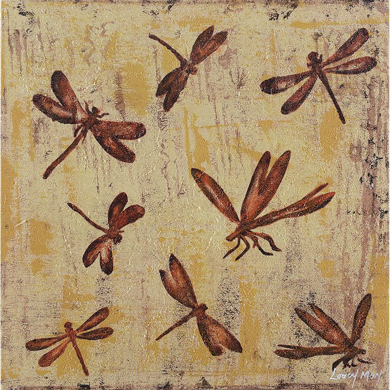 "Ren Wil OL726 Flight of the dragonfly Animals Abstract 15"" x 15"" Wall"
