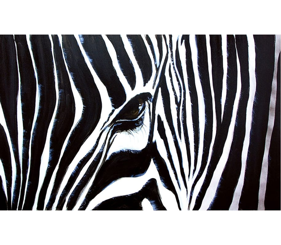 Ren Wil OL828 Kenyan Mare 48&quote Wide by 30&quote High Canvas Wall D�©cor Black